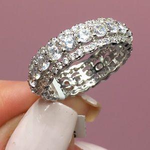 Jewelry - 14k white gold diamond ring eternity wedding band